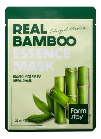Тканевая маска для лица с экстрактом бамбука Real Bamboo Essence Mask 23мл: Маска 1шт farmstay тканевая маска для лица с экстрактом персика real peach essence mask 23 мл