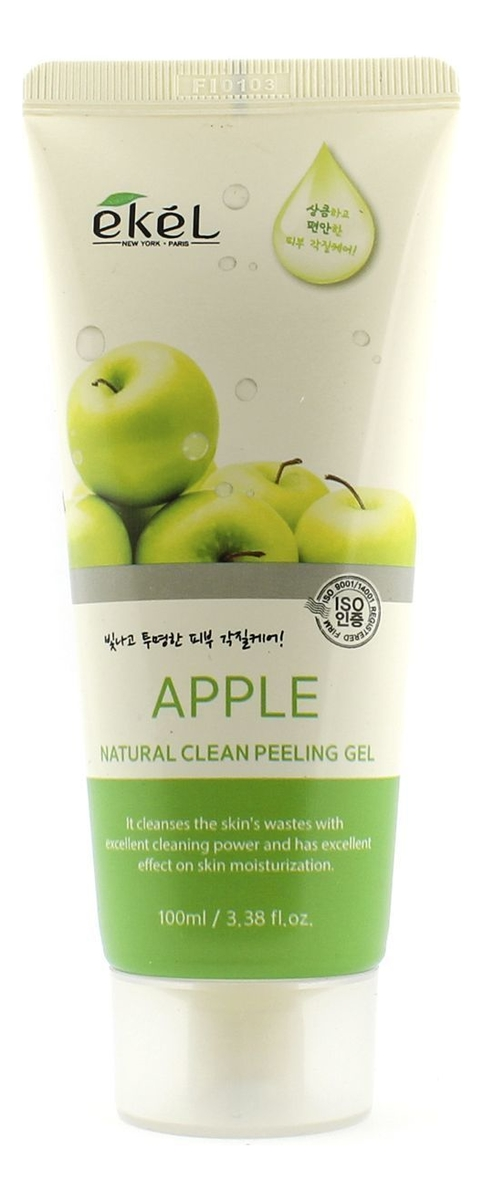 Пилинг-скатка для лица с экстрактом зеленого яблока Apple Natural Clean Peeling Gel 100мл: Пилинг-скатка 100мл пилинг скатка с экстрактом киви farmstay all in one whitening peeling gel kiwi 180мл