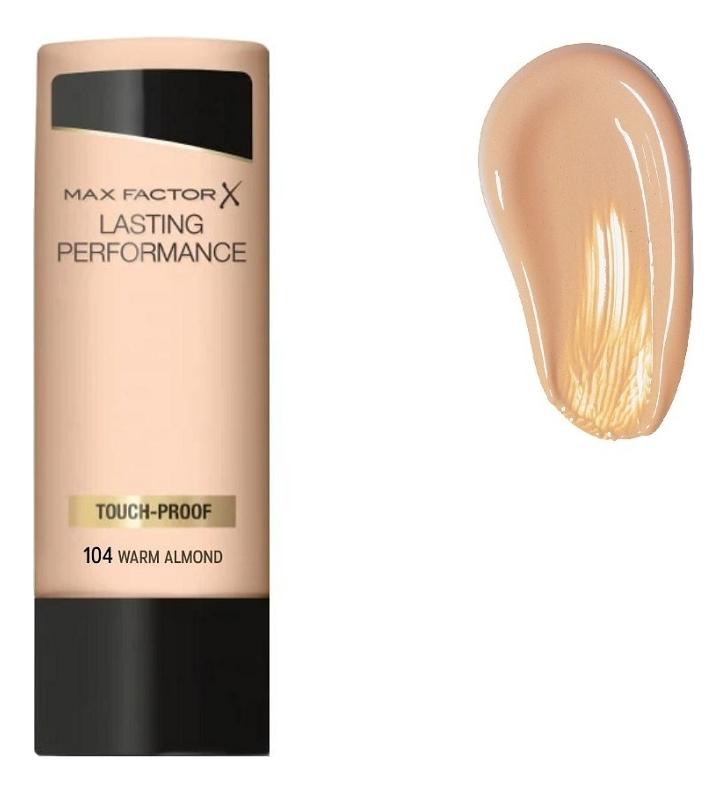 Тональная основа под макияж Lasting Performance 35мл: 104 Warm Almond max factor макс фактор 101 35мл жидкое тональное прочного нефрита фарфора цвета переименованы розовый держать макияж жидкое тональное средство