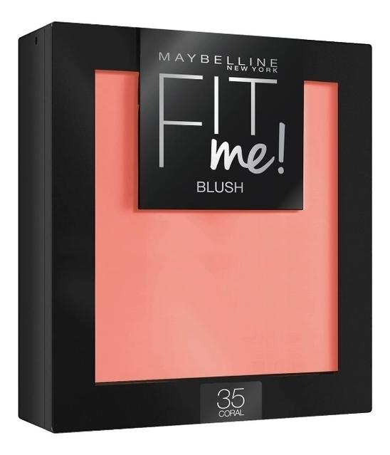 Румяна для лица Fit Me! Blush 4,5г: 35 Coral maybelline new york fit me румяна blush 35 коралл