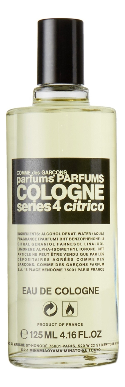 Comme des Garcons Series 4 Cologne : Citrico: одеколон 125мл тестер comme des garcons series 3 incense zagorsk