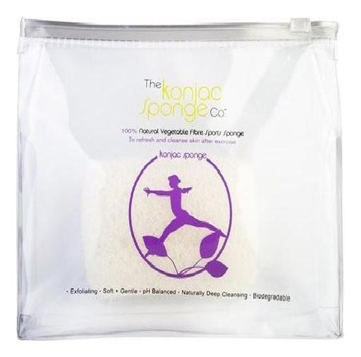 Спонж конняку для спортзала в водонепроницаемой косметичке (для женщин)