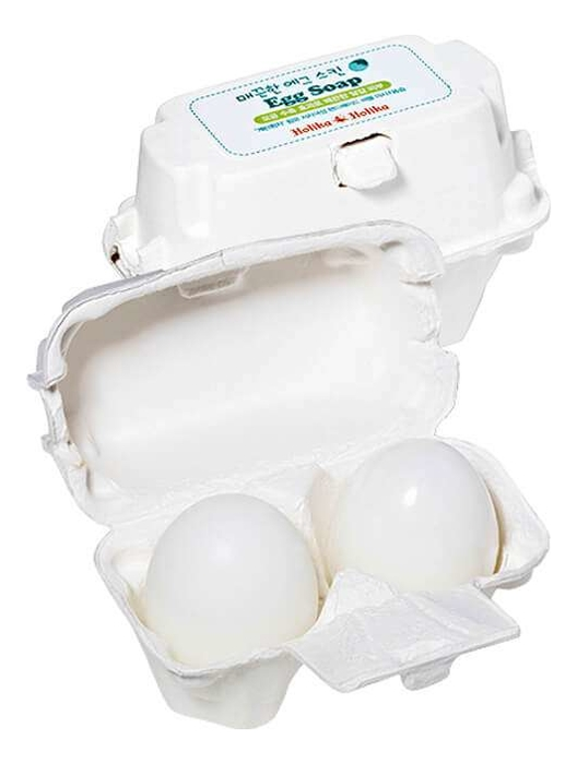 Фото - Мыло-маска для очистки пор с яичным белком Egg Soap 2*50г holika holika egg soap green tea мыло маска с зеленым чаем 50 г 2 холика холика