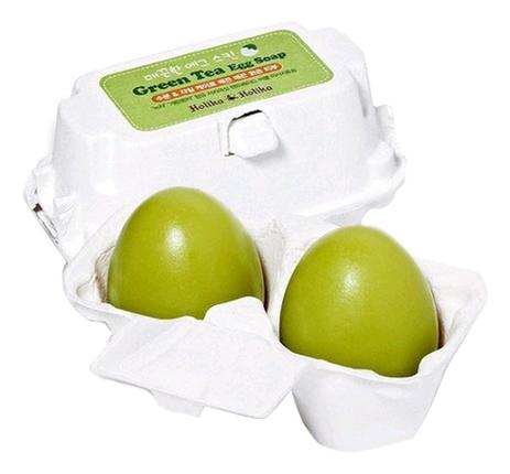 Фото - Мыло-маска для лица с зеленым чаем Green Tea Egg Soap 2*50г holika holika egg soap green tea мыло маска с зеленым чаем 50 г 2 холика холика