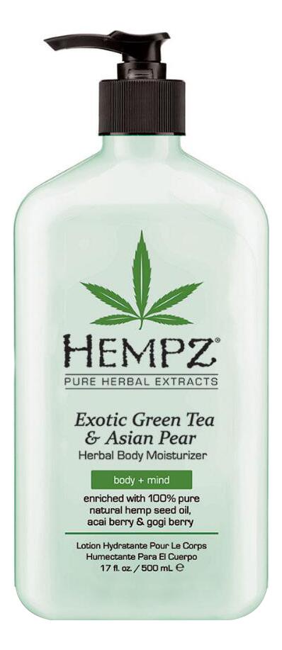 Фото - Увлажняющее молочко для тела Exotic Green Tea & Asian Pear Herbal Body Moisturizer 500мл (зеленый чай и груша) hempz молочко original herbal moisturizer для тела увлажняющее оригинальное 500 мл
