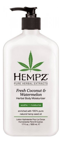 Фото - Увлажняющее молочко для тела Fresh Coconut & Watermelon Herbal Body Moisturizer 500мл (кокос и арбуз) hempz молочко original herbal moisturizer для тела увлажняющее оригинальное 500 мл