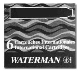 Чернильные картриджи International S0110940 6шт (черный) картридж waterman international 52011 s0110940 черный чернила для ручек перьевых 6шт