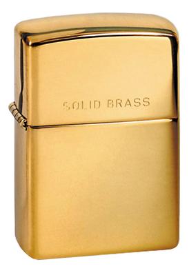 Зажигалка бензиновая Solid Brass (золотистая)