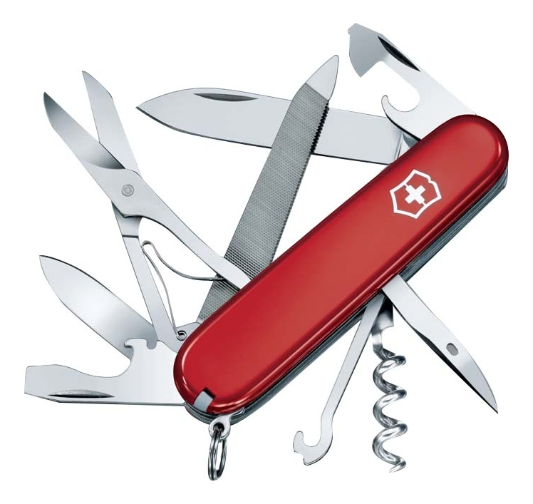 Нож перочинный Mountaineer 91мм 18 функций (красный) нож перочинный victorinox camper 1 3613 71 91мм 13 функций красный с логотипом