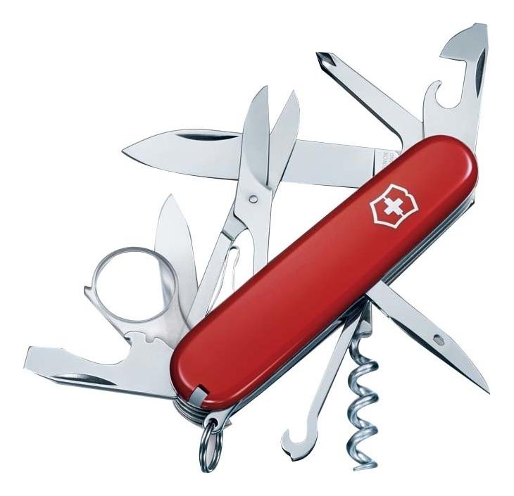 Нож перочинный Explorer 91мм 16 функций (красный) нож перочинный victorinox camper 1 3613 71 91мм 13 функций красный с логотипом