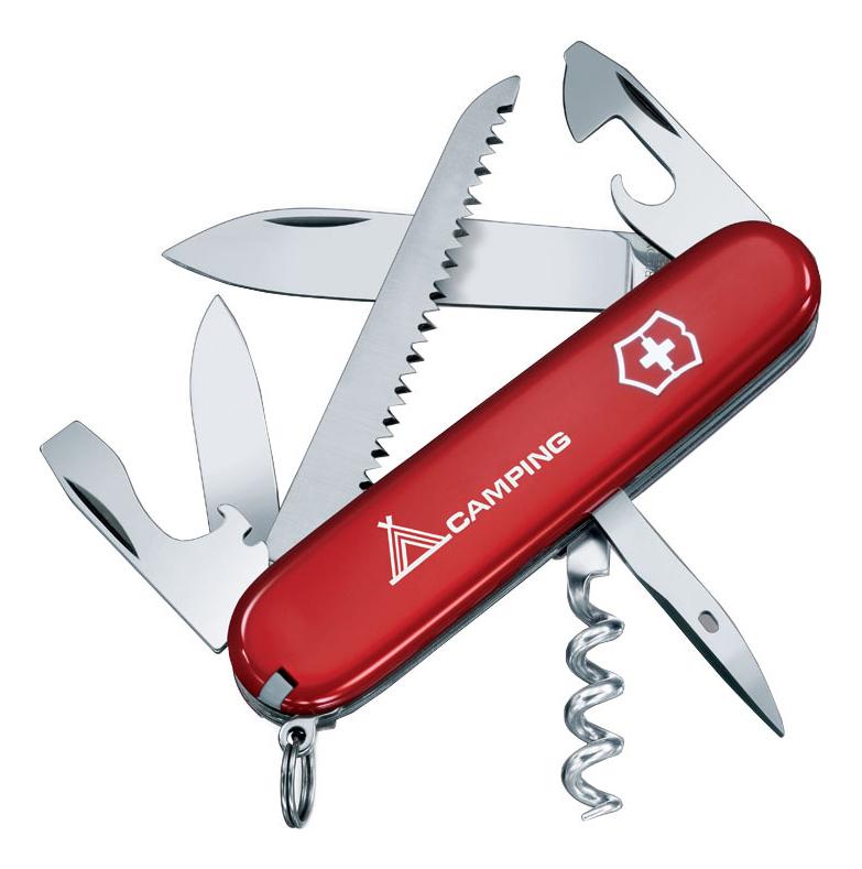 Нож перочинный Camper 91мм 13 функций с логотипом (красный) нож перочинный victorinox camper 1 3613 71 91мм 13 функций красный с логотипом