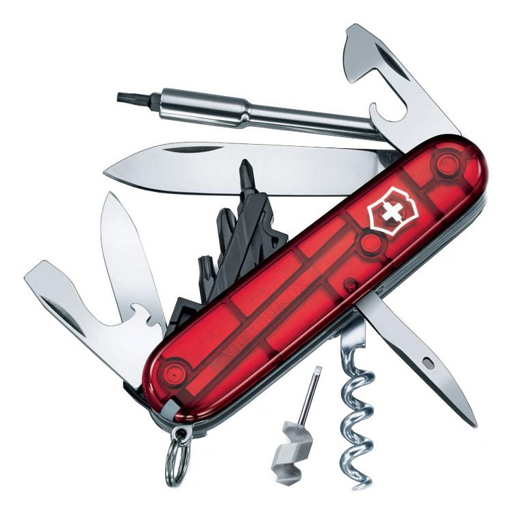 Нож перочинный Cybertool 29 91мм 27 функций (полупрозрачный красный) нож перочинный victorinox spartan 1 3603 t 91мм 12 функций полупрозрачный красный