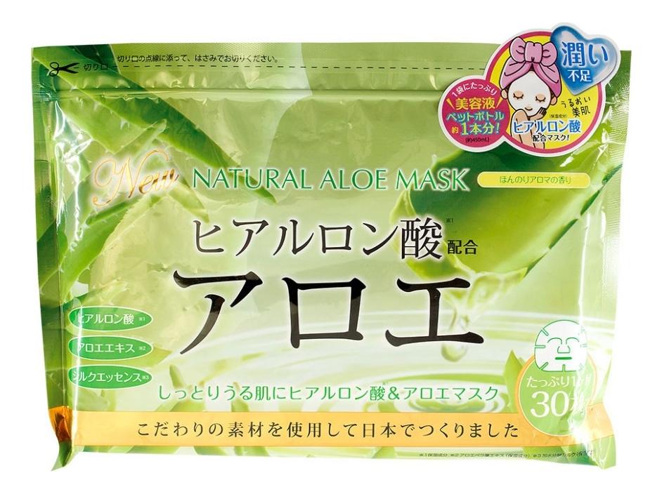 Маска для лица с экстрактом алоэ Natural Aloe Mask: Маска 30шт увлажняющая маска с алоэ