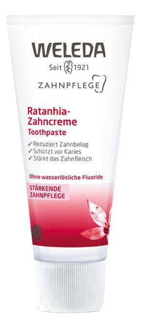 Зубная паста с экстрактом ратании Ratanhia Toothpaste 75мл зубная паста weleda weleda we008lwad812