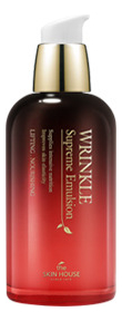 Разглаживающая эмульсия с экстрактом женьшеня Wrinkle Supreme Emulsion 130мл антивозрастной уход the skin house эмульсия wrinkle collagen emulsion объем 130 мл