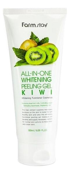 Пилинг-гель для лица с экстрактом киви и муцина улитки Snail All-In-One Whitening Peeling Gel Kiwi 180мл пилинг скатка с экстрактом киви farmstay all in one whitening peeling gel kiwi 180мл