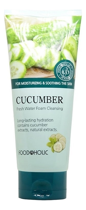 Пенка для умывания Cucumber Fresh Water Foam Cleansing 180мл (экстракт огурца) fresh line 3 in 1 lavender cleansing foam