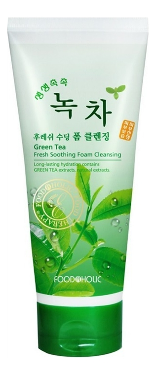 Пенка для умывания Green Tea Fresh Soothing Foam Cleansing 180мл (экстракт зеленого чая) fresh line 3 in 1 lavender cleansing foam