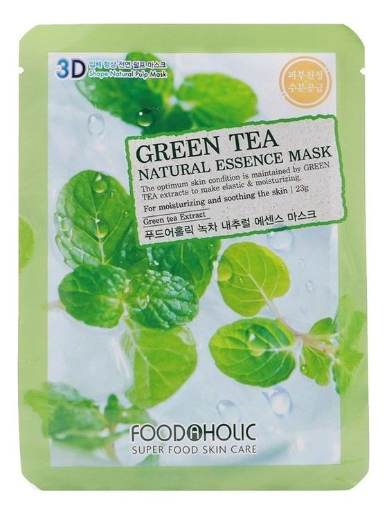 Тканевая 3D маска с экстрактом зеленого чая Green Tea Natural Essence 3D Mask 23г тканевая 3d маска с экстрактом граната pomegranate natural essence 3d mask 23г