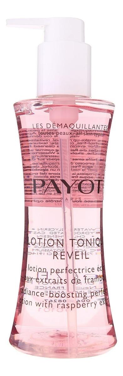 Тоник-эксфолиант для сияния кожи Les Demaquillantes Lotion Tonique Reveil 200мл средство для глаз и губ payot les demaquillantes 125 мл моментально очищающее и разглаживающее