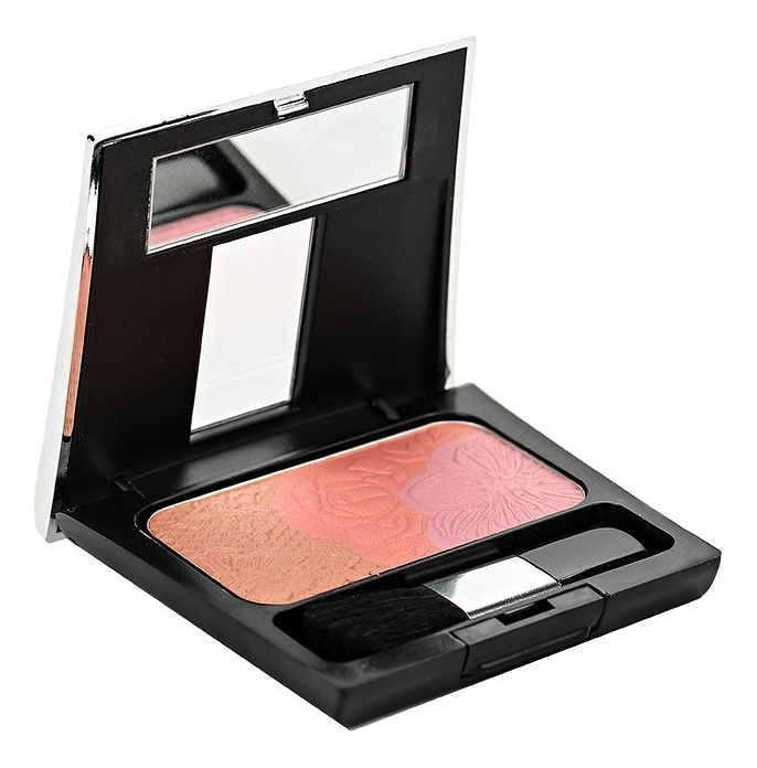 Палетка из трех румян Rosy Shine Blusher 7г: 07 Breeze
