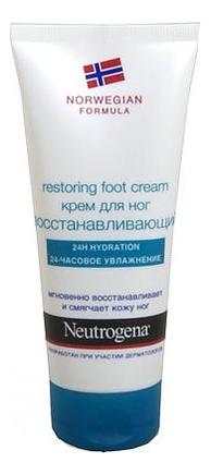 Крем для ног восстанавливающий Норвежская формула Restoring Foot Cream 100мл нитроджина помада для губ spf20 4 8 гр neutrogena норвежская формула