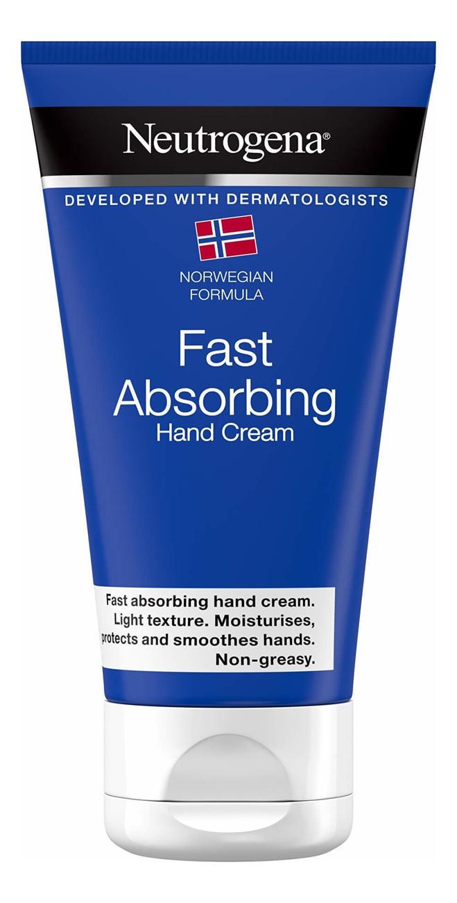 Крем для рук быстро впитывающийся Норвежская формула Fast Absorbing Hand Cream 75мл нитроджина помада для губ spf20 4 8 гр neutrogena норвежская формула