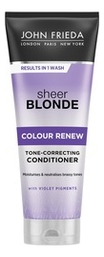 Кондиционер для осветленных волос Sheer Blonde Colour Renew Tone-Correcting Conditioner 250мл conditioners john frieda jjf511220 air conditioner for hair care enhancement and nutrition vitamins
