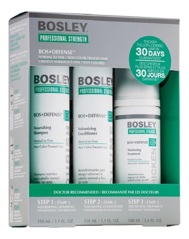 цены Система зеленая для нормальных и тонких неокрашенных волос Bos Defense Normal To Fine Non Color-Treated Hair (шампунь 150м...