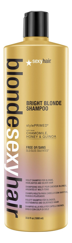 Шампунь корректирующий Сияющий блонд без сульфатов Blonde Sulfate-Free Bright Blonde Shampoo: Шампунь 1000мл
