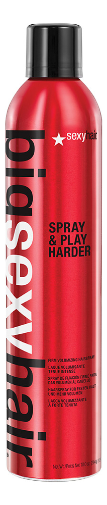 Спрей для дополнительного объема Big Spray and Play Harder 300мл sexy hair big sexy hair spray and stay intense hold hairspray