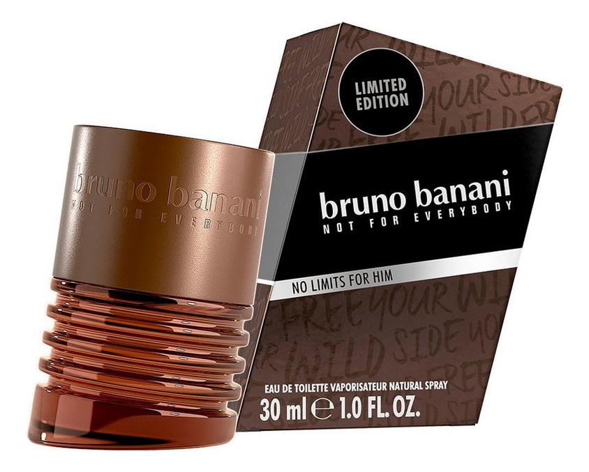 Bruno Banani No Limits Man: туалетная вода 30мл дутики no limits no way no limits no way no025awmec54