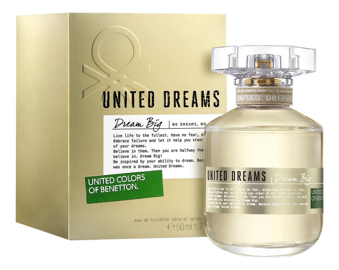 Benetton United Dreams Dream Big: туалетная вода 50мл брюки united colors of benetton united colors of benetton un012ewaccb2