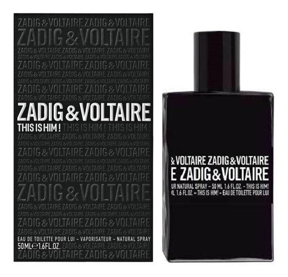 Zadig & Voltaire This is Him : туалетная вода 50мл сумка zadig