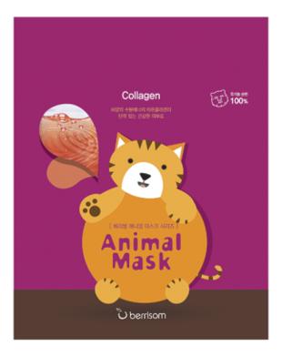 Маска тканевая с морским коллагеном Animal Mask Series Cat 25мл