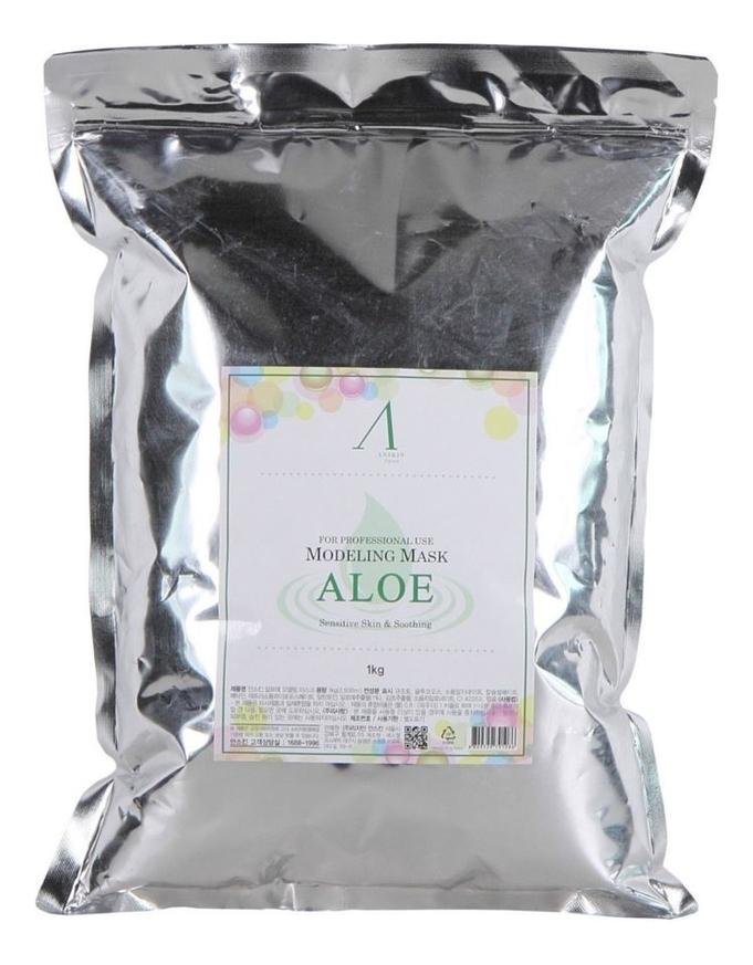 Маска альгинатная с экстрактом алоэ Aloe Modeling Mask Refill 1кг: Маска 1000г (запасной блок) увлажняющая маска с алоэ