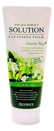 Пенка для умывания с экстрактом зеленого чая Natural Perfect Solution Cleansing Foam Green Tea 170г очищающая пенка для лица с экстрактом зеленого чая natural cleansing foam green tea 100мл