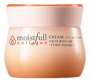 Крем для лица с коллагеном Moistfull Collagen Cream 75мл etude house moistfull collagen cleansing foam пенка для умывания с коллагеном 150 мл