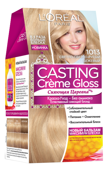 Крем-краска для волос Casting Creme Gloss: 1013 Светло-светло-русый бежевый l oreal краска для волос casting creme gloss 37 оттенков 254 мл 810 светло русый перламутровый