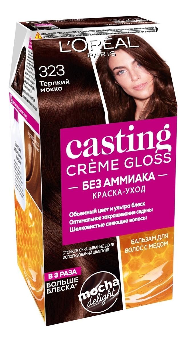 Крем-краска для волос Casting Creme Gloss: 323 Черный шоколад крем краска для волос casting creme gloss 400 каштановый