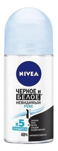 Шариковый дезодорант-антиперспирант Невидимая защита для черного и белого Pure 50мл антиперспирант nivea невидимая защита для черного и белого 150 мл
