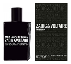 Zadig & Voltaire This is Him : туалетная вода 30мл сумка zadig