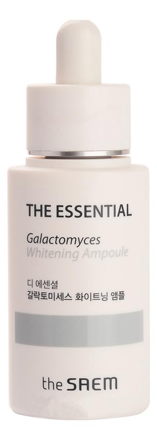 Сыворотка для лица осветляющая The Essential Galactomyces Whitening Ampoule 30мл трехфазное средство для увлажнения the saem the essential triplus hydrating ampoule 30мл