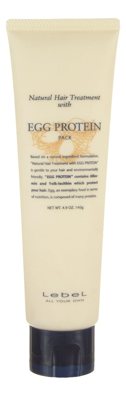 Маска для волос с яичным протеином Natural Hair Treatment With Egg Protein Pack: 140г