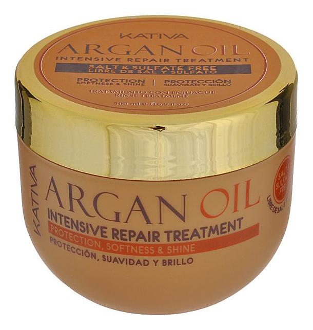 Фото - Восстанавливающий уход для волос с маслом арганы Argan Oil Intensive Repair Treatment: Уход 500мл спрей для волос восстанавливающий mugens zen care ss treatment 500мл