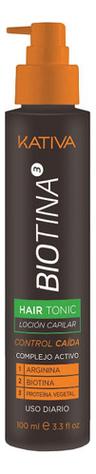 Купить Тоник против выпадения волос с биотином Biotina Hair Tonic 100мл, Kativa