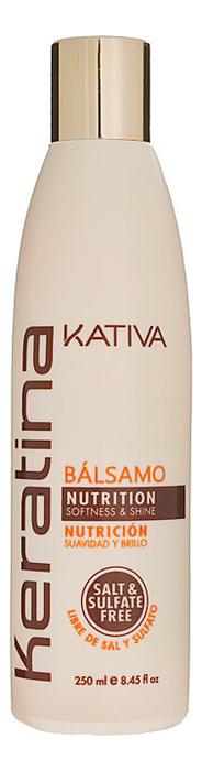 Укрепляющий бальзам-кондиционер для волос с кератином Keratina Nutrition Balsamo 250мл: Бальзам-кондиционер 250мл