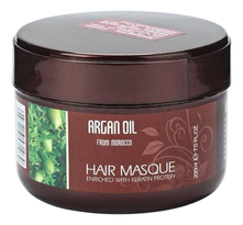 Bingo Hair Cosmetic Восстанавливающая маска для волос с маслом арганы и кератином Argan Oil From Morocco Hair Masque 200мл
