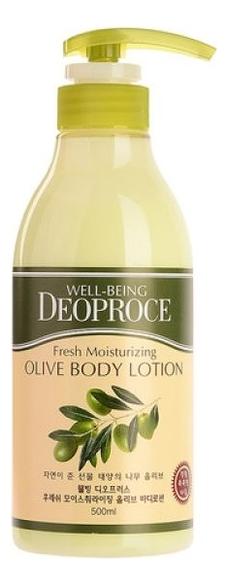 deoproce мист well being hydro Лосьон для тела с экстрактом оливы Well-Being Fresh Moisturizing Olive Body Lotion 500мл