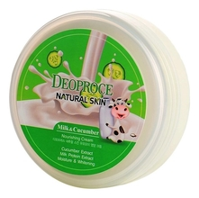 Deoproce Крем для лица и тела с экстрактом молока и огурца Natural Skin Nourishing Cream Milk Cucumber 100г